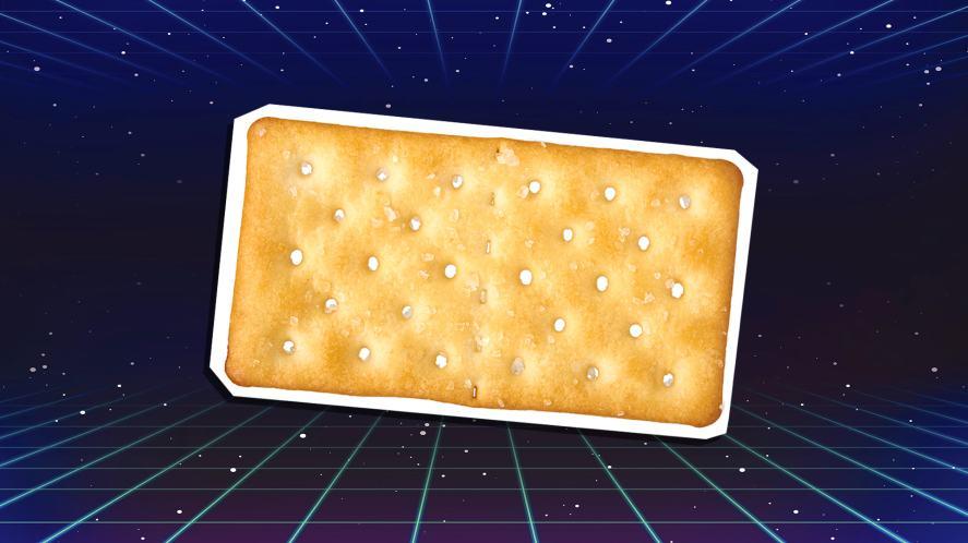 A salted cracker