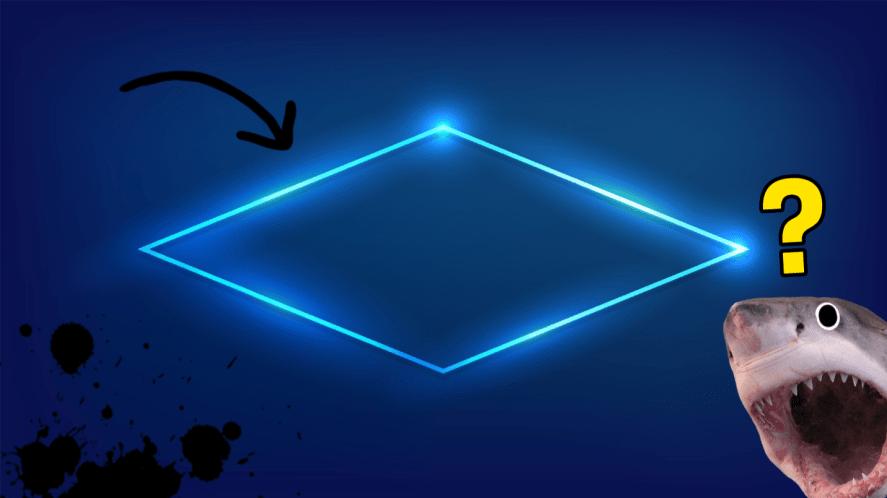 A diamond shape