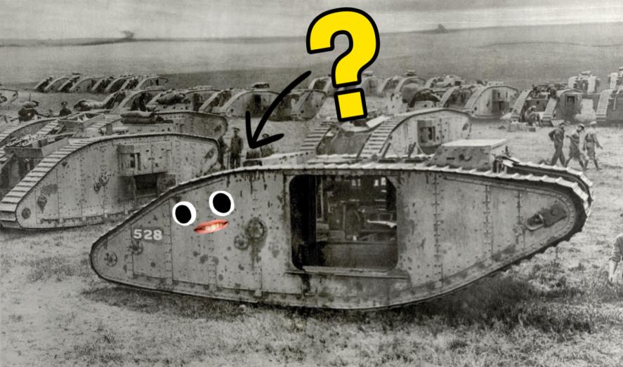 A tank in WW1
