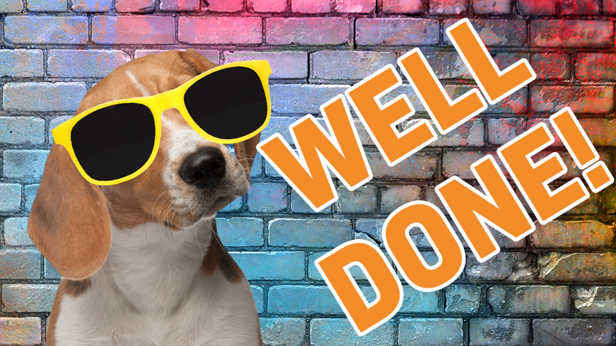 Result –Well done