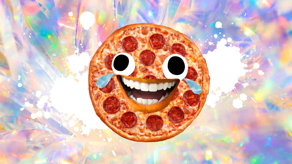 Cry laughing pizza