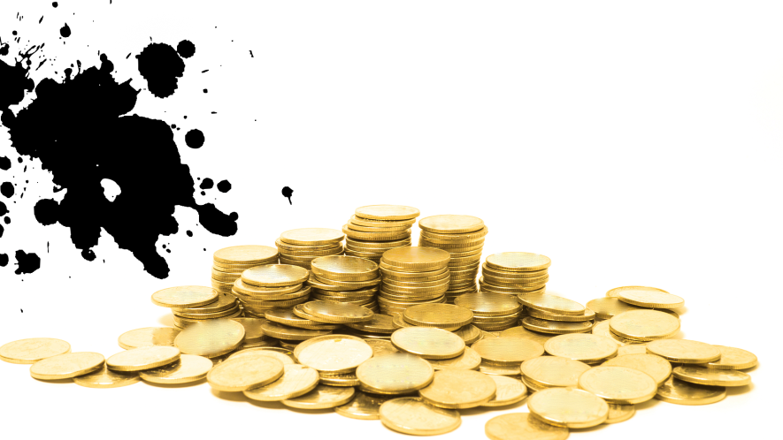 A pile of gold coins