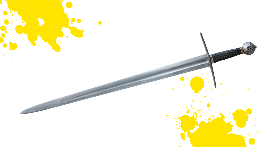 A sword on a white background