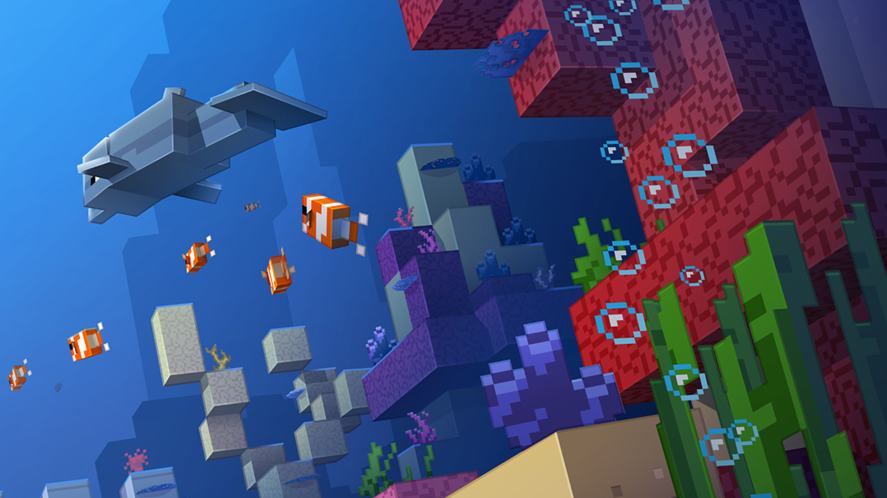 The ocean in Minecraft