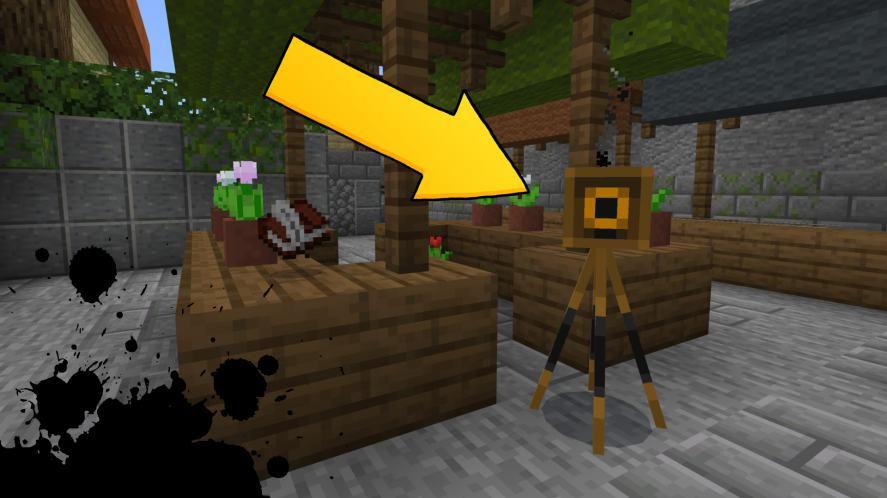 The camera in Minecraft