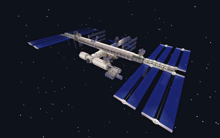 The International Space Station in Minecraft