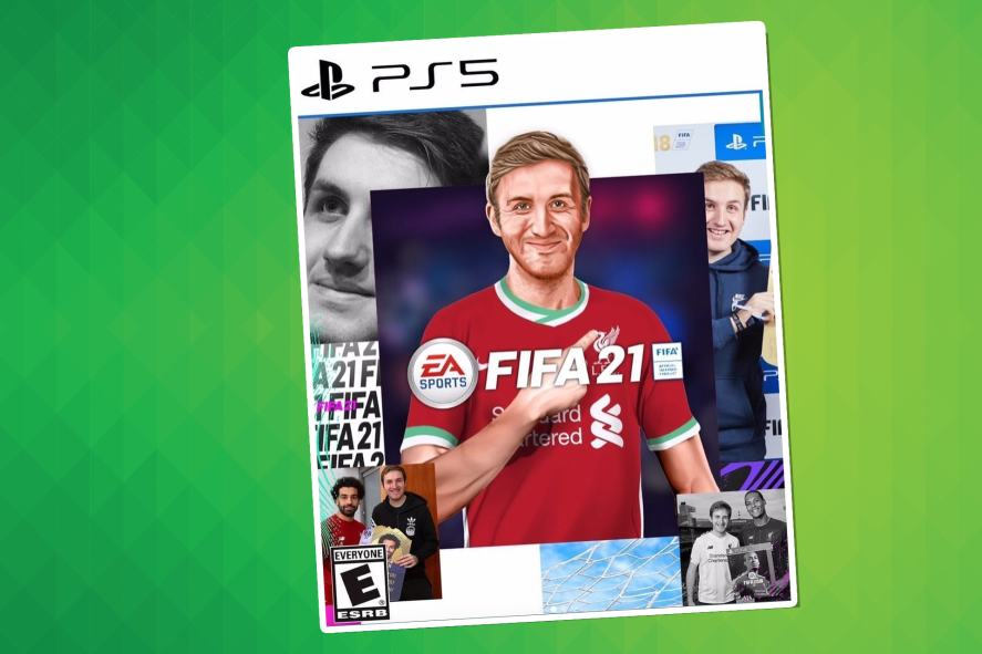 MattHDGamer on a custom PS5 FIFA cover