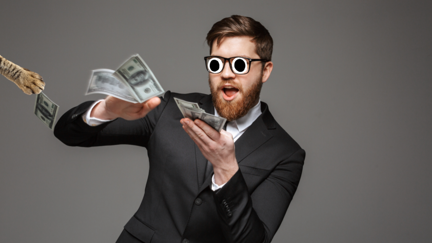 A man with a silly amount of cash