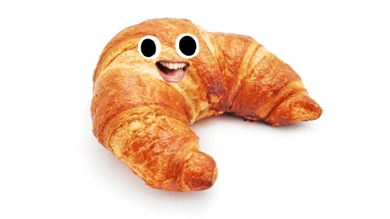 A happy croissant