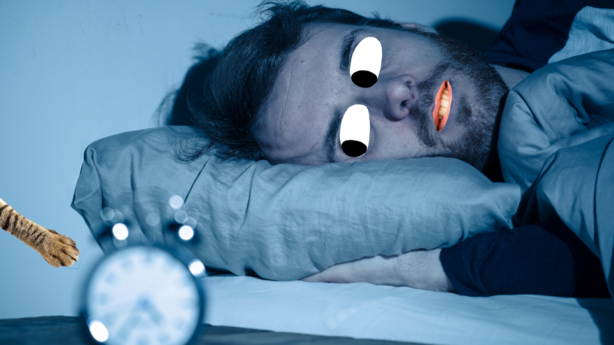 A man trying to sleep