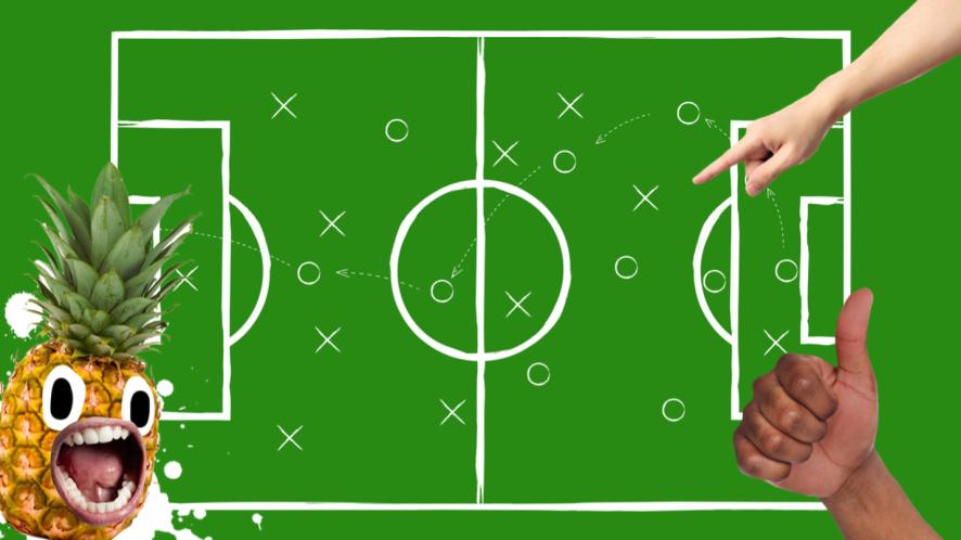 Football formations a green football diagram