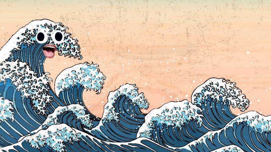 Japanese wave art