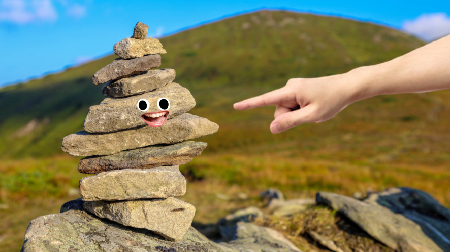 A pile of stones