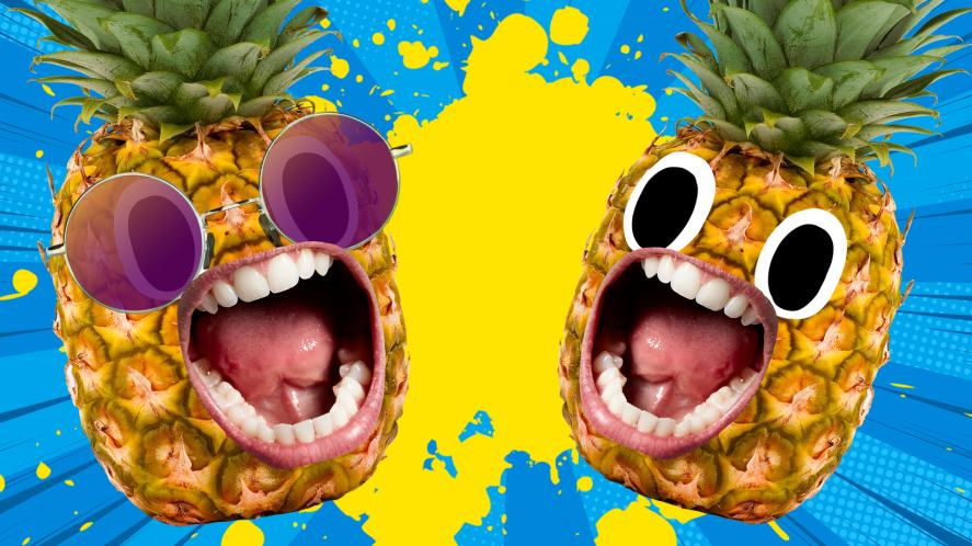 Two screaming pineapples
