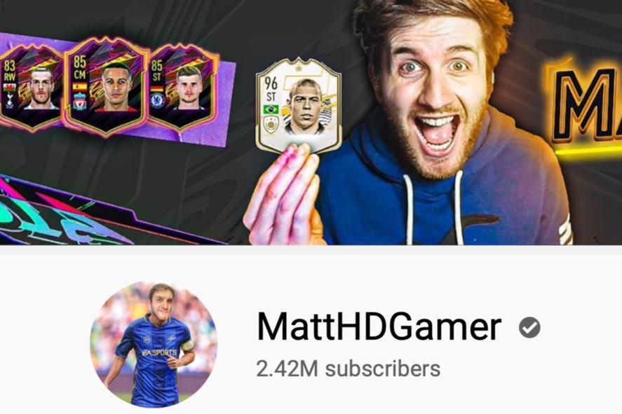 MattHDGamer's YouTube page