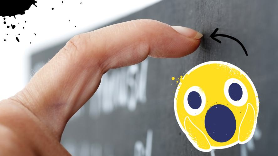 Some fingernails on a chalk board