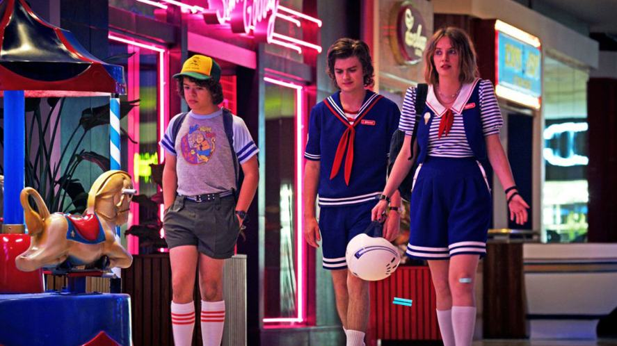 Stranger Things set in the Starcourt Mall