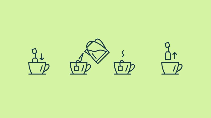 A step by step guide to making a cup of tea