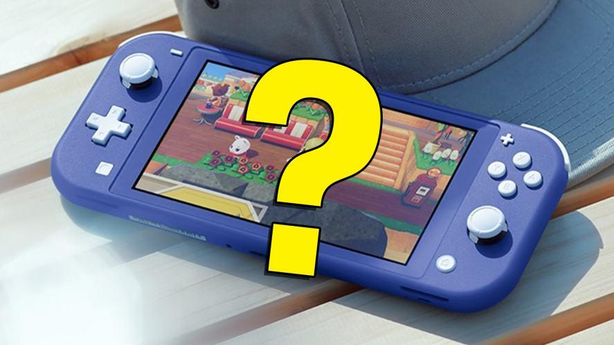 A blue Nintendo Switch