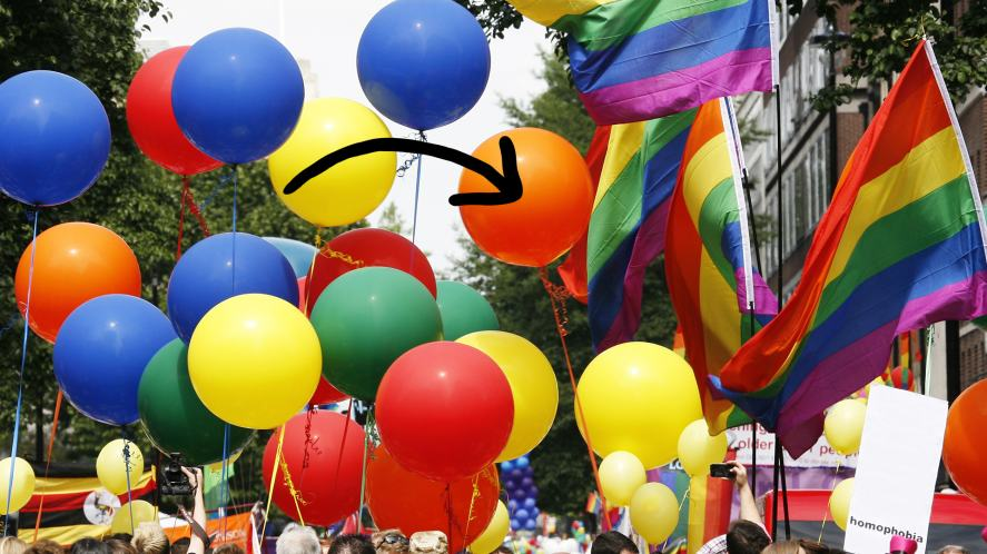 A Pride event