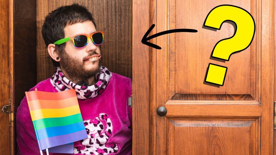 A man hiding in a closet