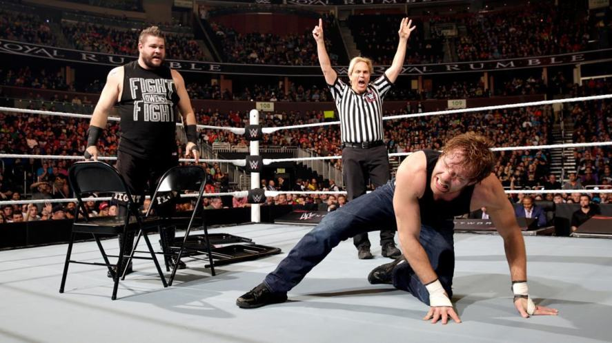 WWE wrestlers in the ring