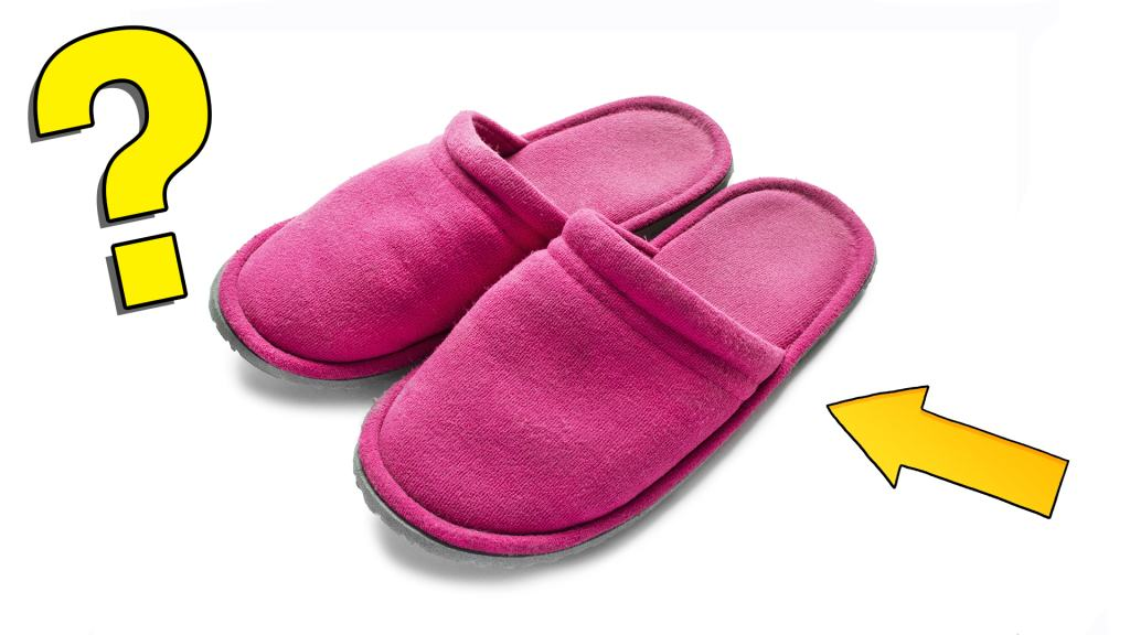 Some comfy pink slippers