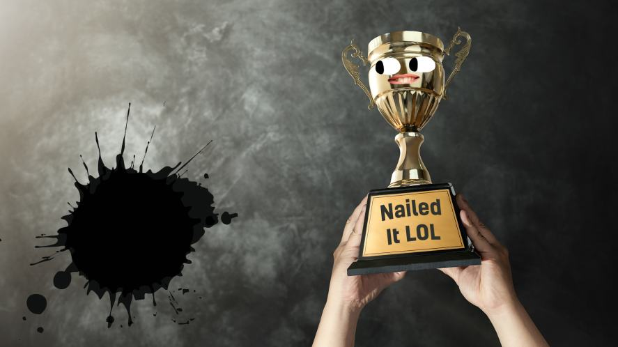 A smiling trophy