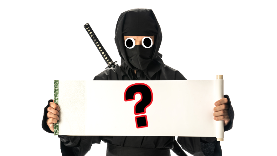 Ninja with question marks