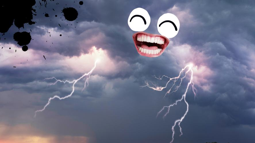 A laughing thunderstorm