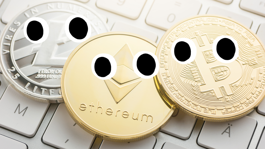 Coins with eyes