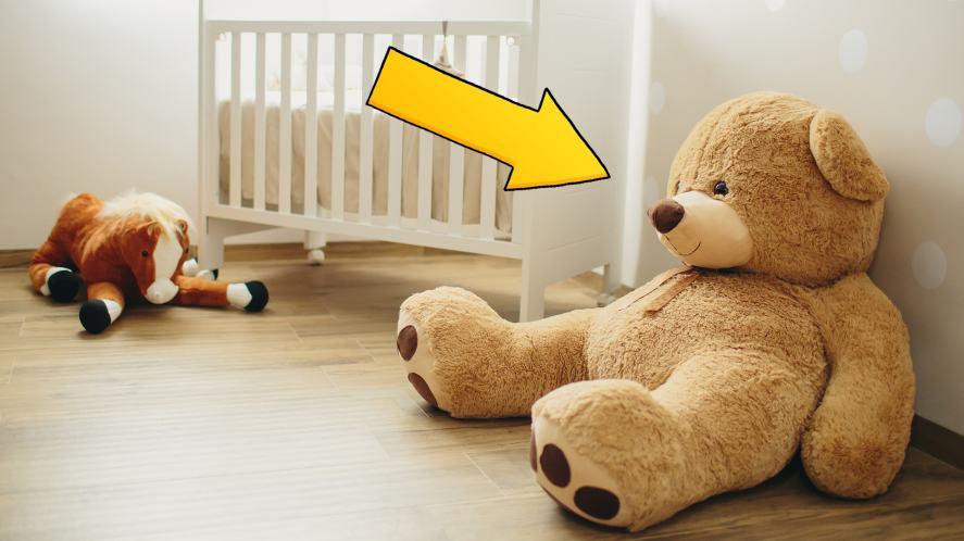 A giant teddy bear