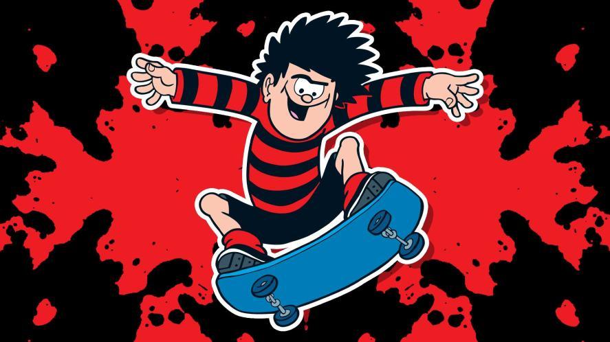 Dennis doing a blam skateboard trick