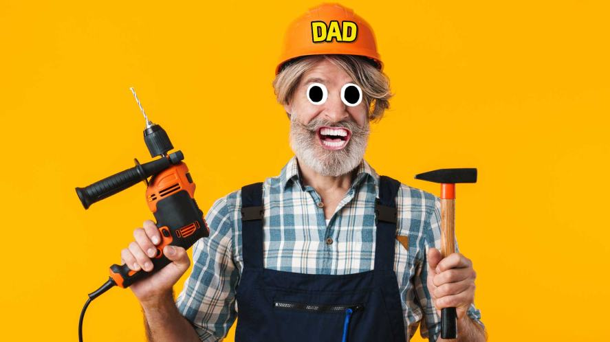 A dad preparing to do some DIY