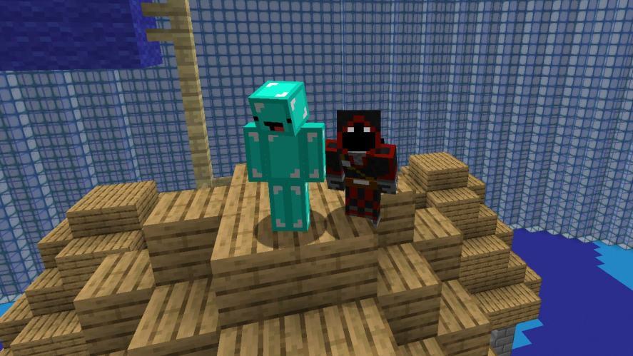 Skeppy and BadBoyHalo on Minecraft
