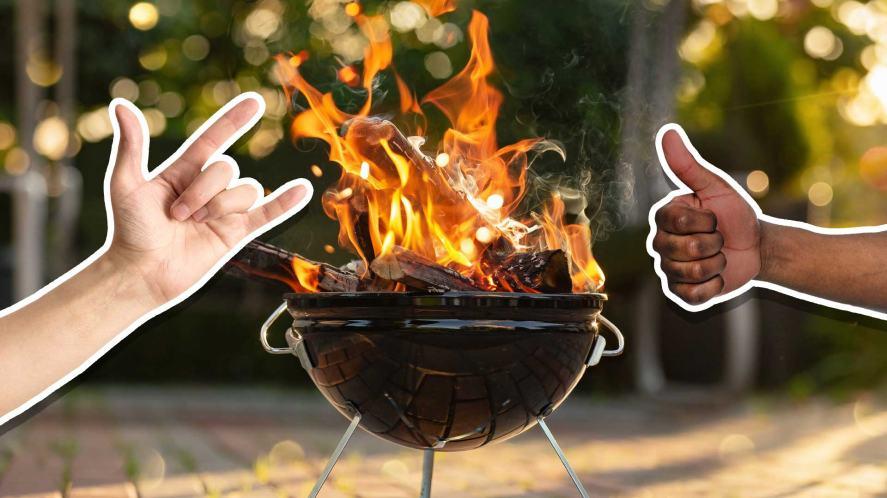 A roaring barbecue