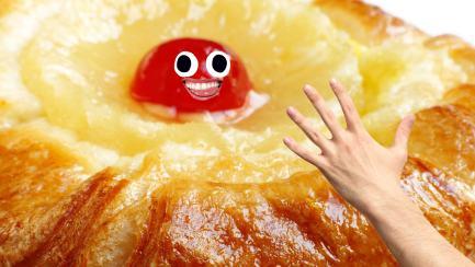 A cherry Danish