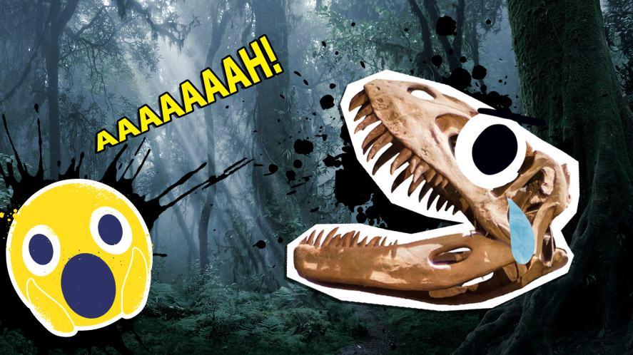 A cursed dinosaur skull
