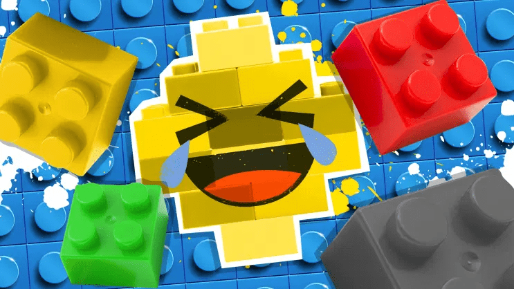 Laughing Lego piece