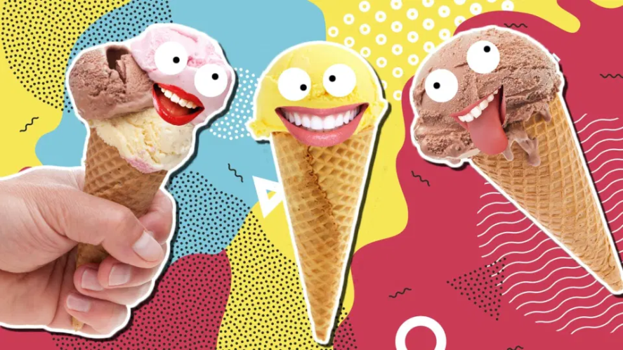 A selection of ice cream