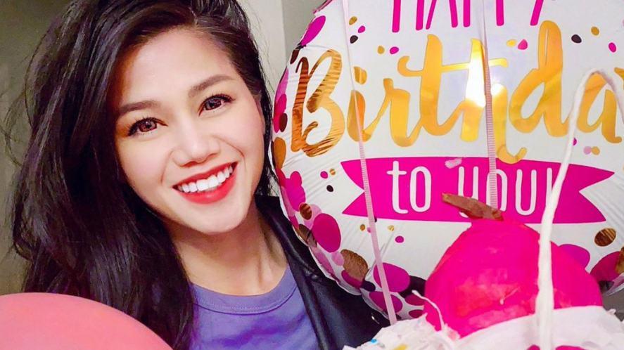 Vy Qwaint celebrating her birthday