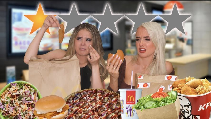 McLoughlin girls looks disgusted with junk food