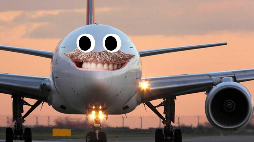 An aeroplane waiting on the tarmac