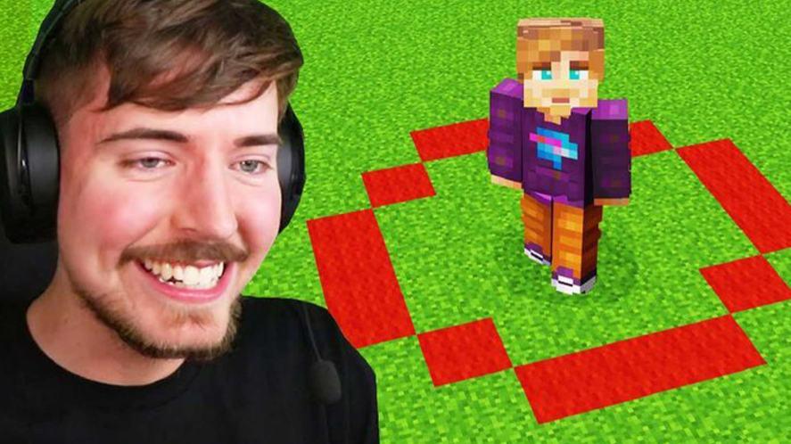 MrBeast and a Minecraft challenge