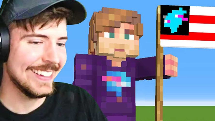 MrBeast builds his own Minecraft country