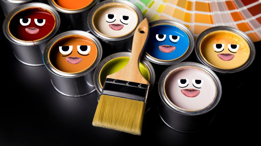 Tin cans with paint