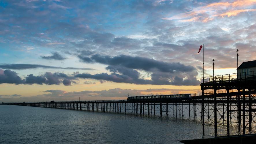 A pier in an English coastal town