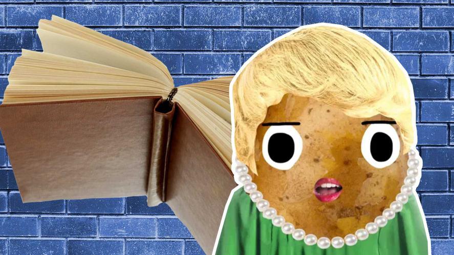 Rita Skeeter and a flying book
