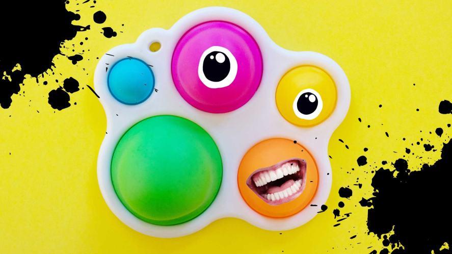 A colourful fidget toy