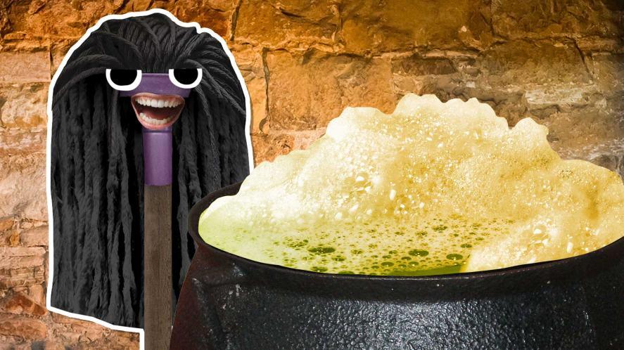 Snape and a bubbling cauldron